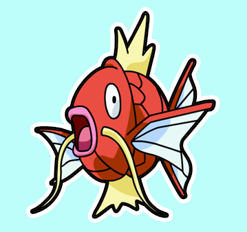 How to Draw MagiKarp from Pokemon in Simple Steps