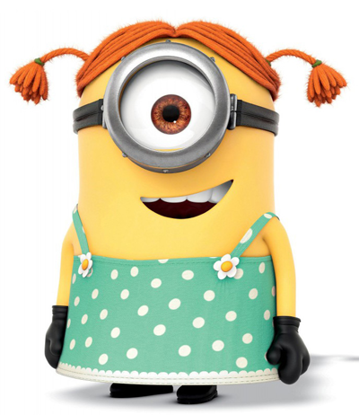 How to draw stuart the minion dressed as a girl from for Minion clothespins