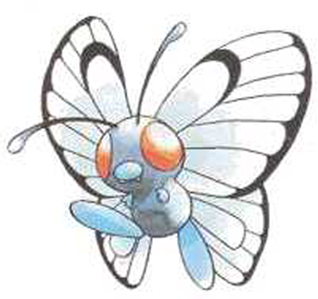 How To Draw Butterfree From Pokemon With Step By Step Lesson How To Draw Dat