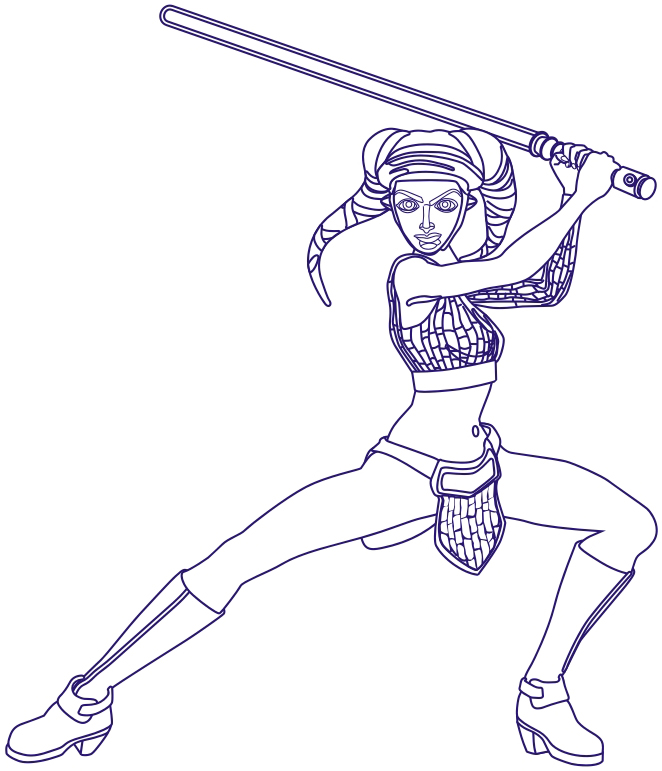 How to Draw Aayla Secura from Star Wars The Clone Wars