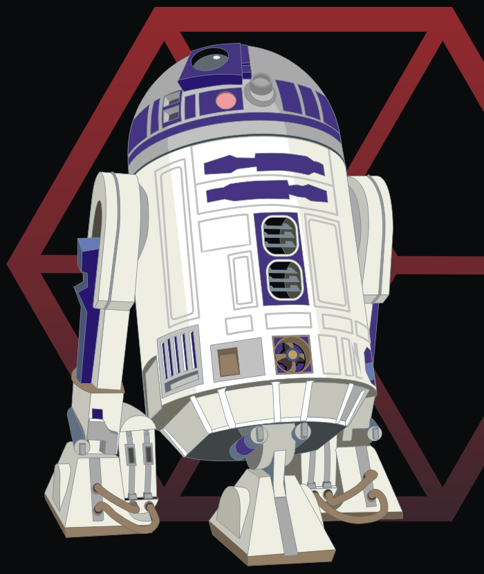How to Draw R2-D2 from Star Wars Step by Step Tutorial
