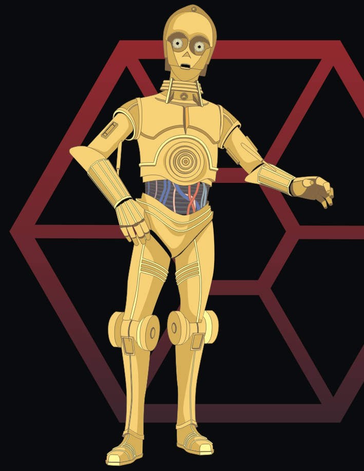 How to Draw C-3PO from Stars Wars Saga Drawing Lesson