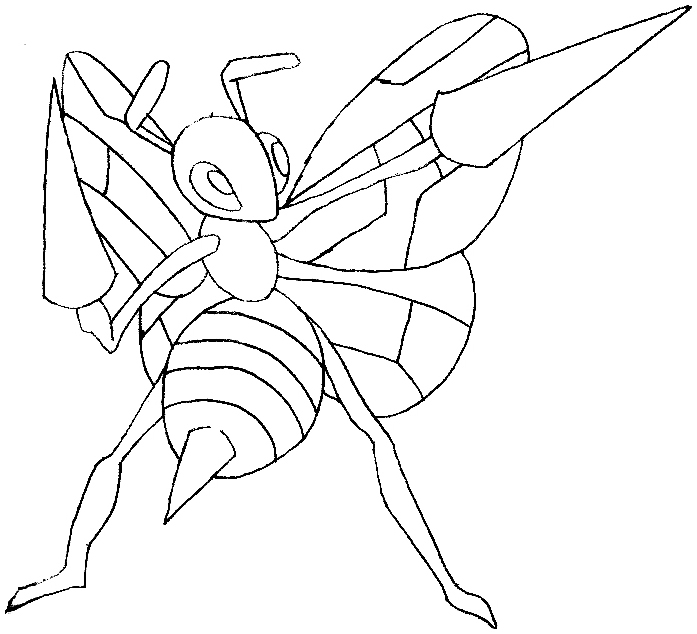 How to Draw Beedril from Pokemon in Easy Steps Lesson
