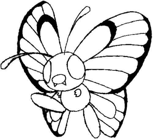 How to Draw Butterfree from Pokemon with Step by Step Lesson