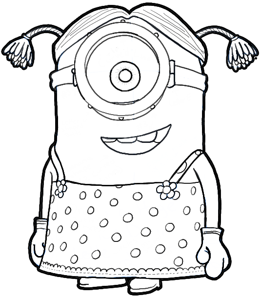 How to Draw Stuart the Minion Dressed as a Girl from Despicable Me