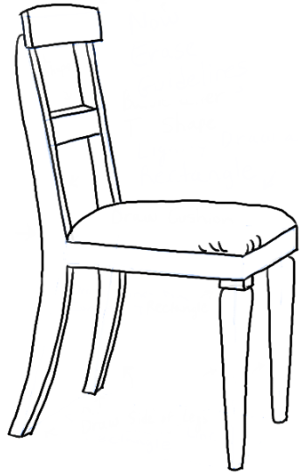 finished drawing of a chair