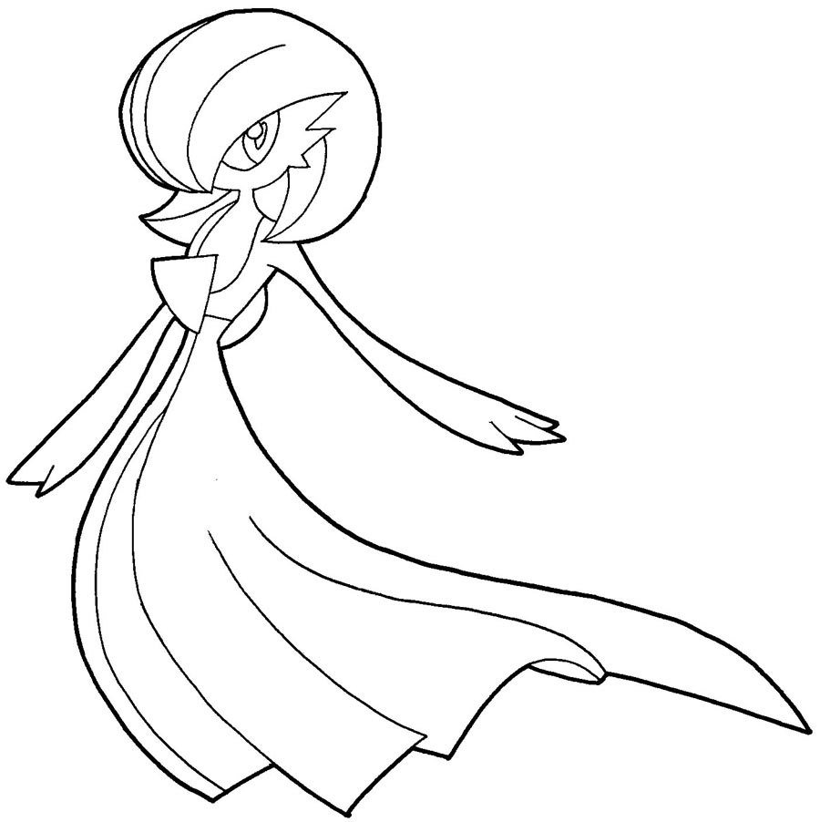How To Draw Gardevoir From Pokemon With Easy Step By Step