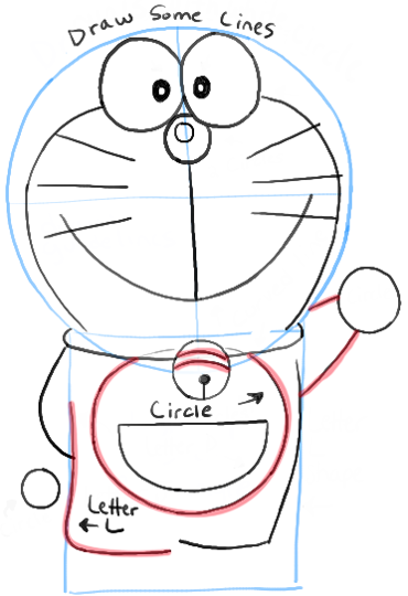 How to Draw Doraemon with Easy Steps Drawing Lesson | How to