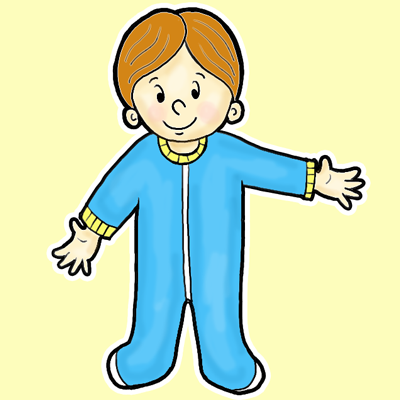 How to Draw Cartoon Toddlers with Footsie Pajamas On