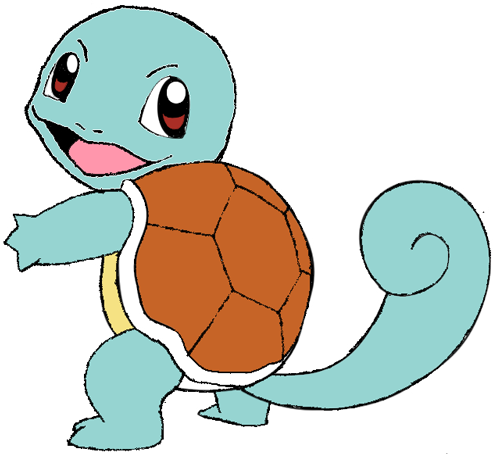 How to Draw Squirtle from Pokemon with Step by Step Drawing Tutorial