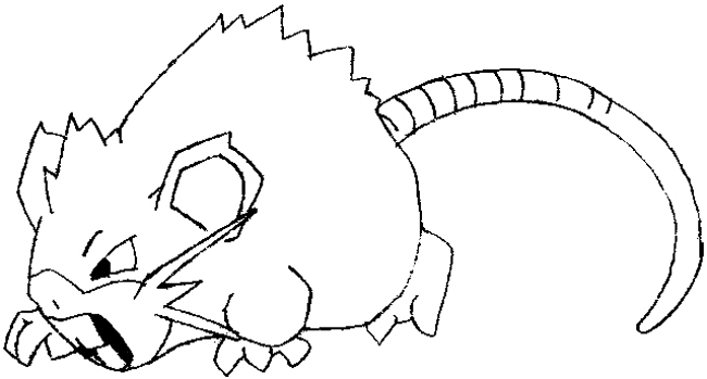 How to Draw Raticate from Pokemon in Easy to Follow Steps