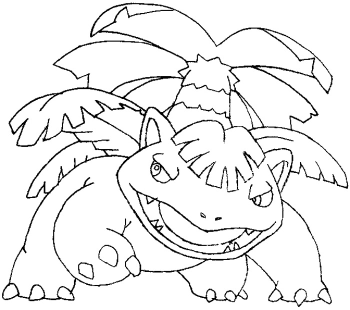 How to Draw Venusaur from Pokemon Step by Step Drawing Tutorial