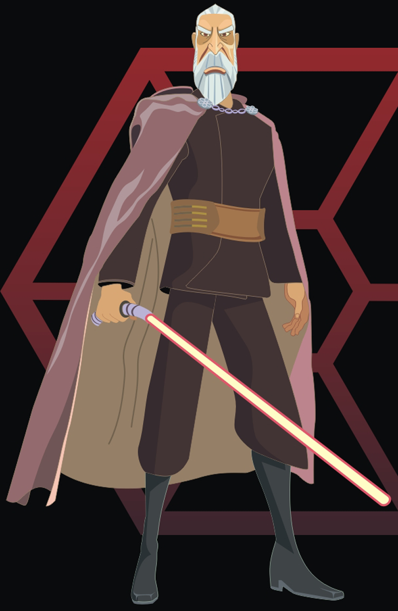 How to Draw Count Dooku from Star Wars Step by Step Drawing Tutorial