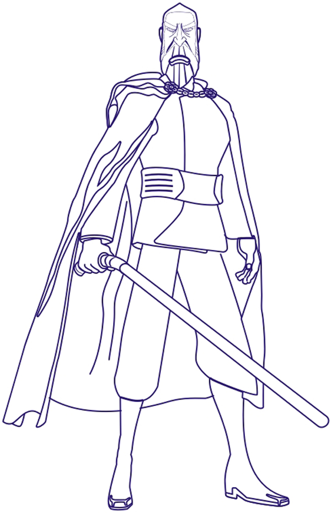 count dooku coloring pages how to draw count dooku from star wars step by step