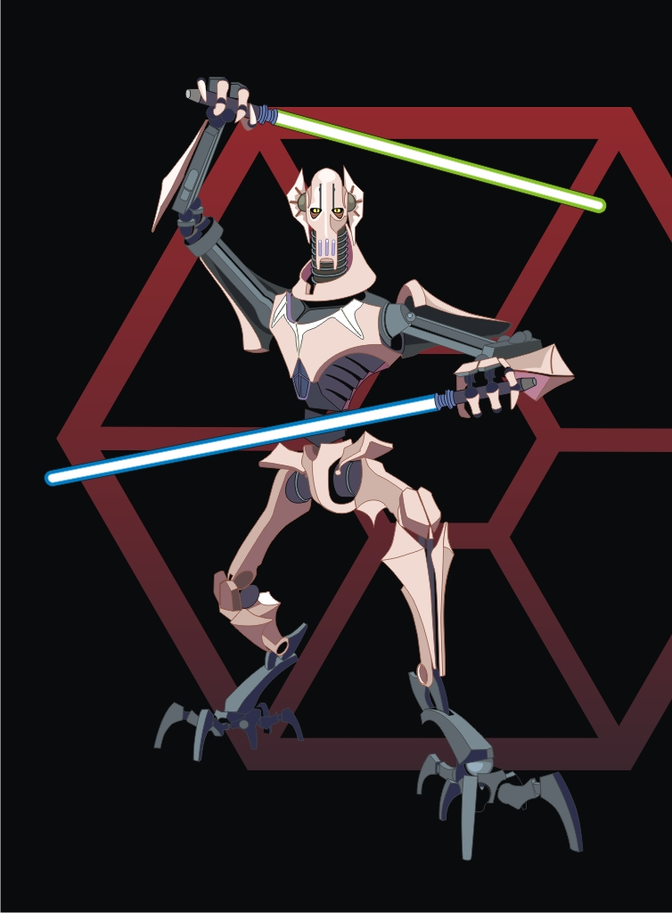 How to Draw General Grievous from Star Wars Step by Step Drawing Tutorial