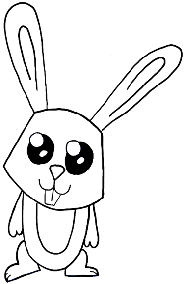 How To Draw A Cartoon Bunny Rabbit With Easy Step By Step Drawing