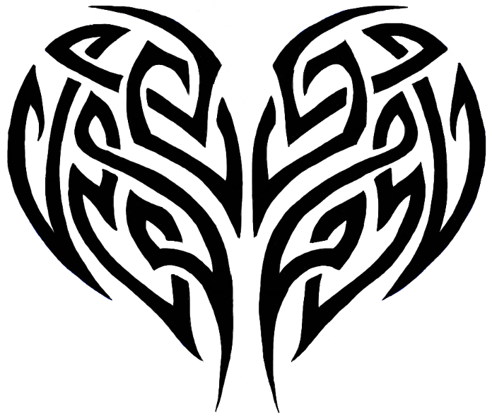 How to Draw a Tribal Heart Tattoo Design with Easy Step by Step ...