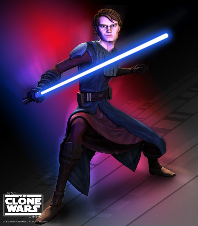 How to Draw Anakin Skywalker from Star Wars The Clone Wars Step by Step