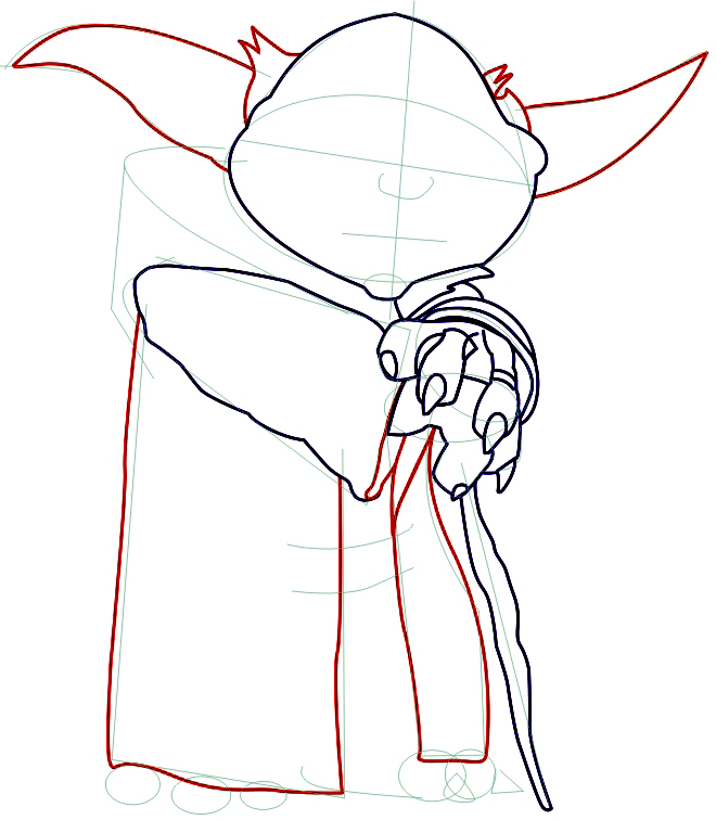 Line Drawing Yoda : How to draw yoda from star wars with step by drawing