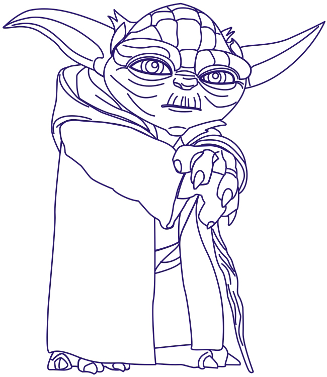 How to Draw Yoda from Star Wars with Step by Step Drawing Tutorial