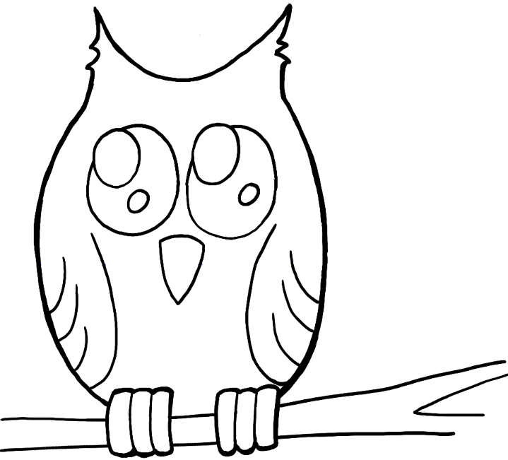 How to draw owl on branch easy drawing tutorial for kids for Draw the owl