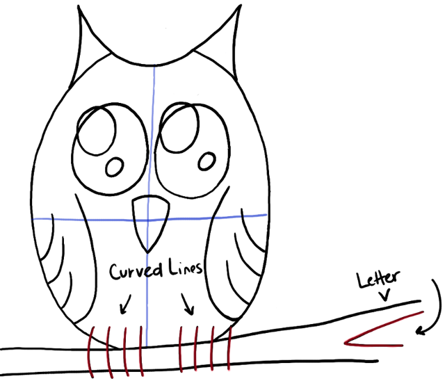 Owl Claws Drawing Step06-owl-on-branch