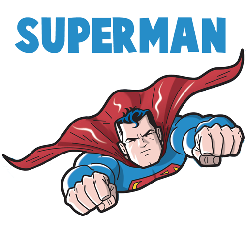 cute superman flying drawing - photo #32