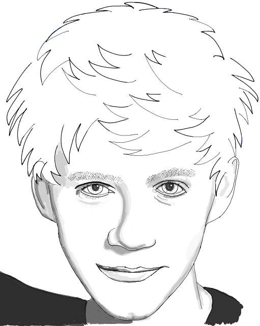 How to Draw Niall Horan from One Direction with Step by Step Drawing Tutorial