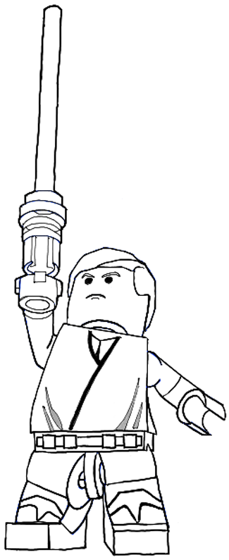 Finished Drawing of Lego Luke Skywalker