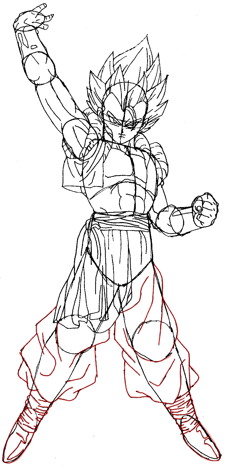 How To Draw Gogeta From Dragon Ball Z In Easy Steps Tutorial How