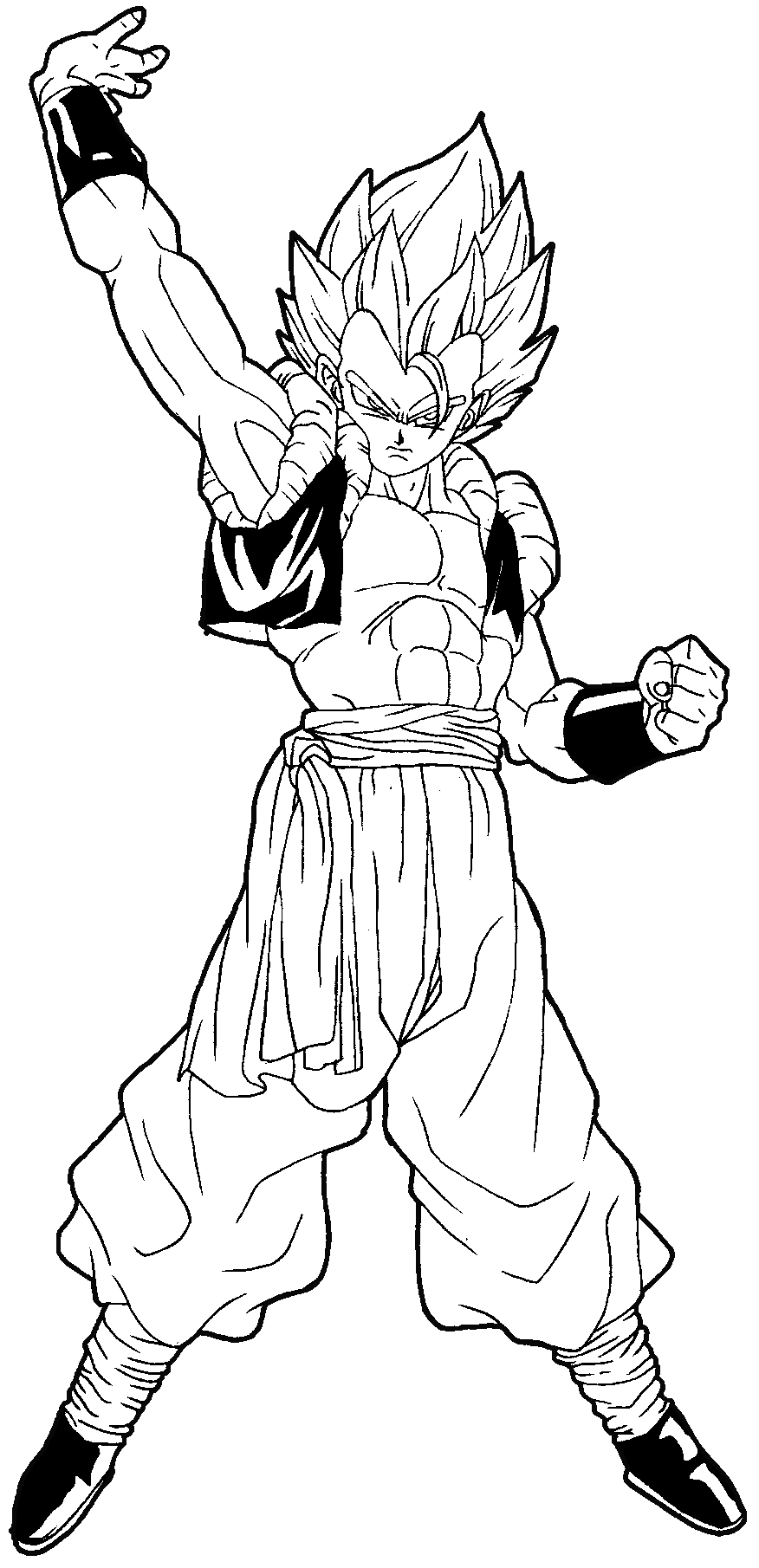 Dbz Hair Coloring Pages Gogeta Coloring Pages