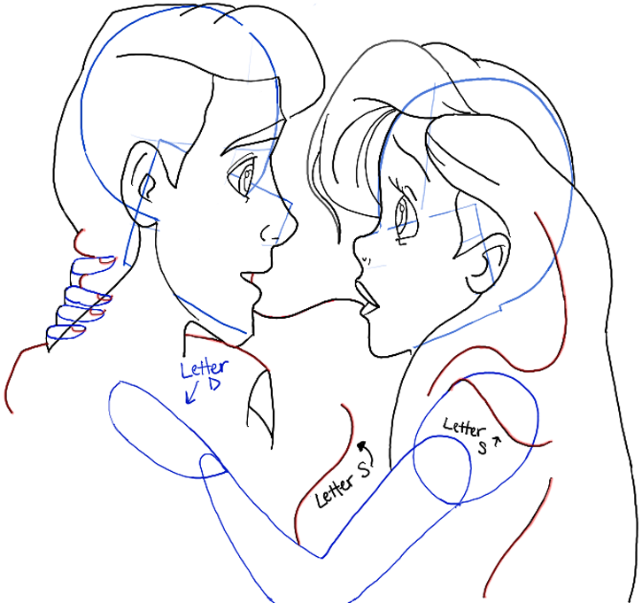 How To Draw Ariel And Eric From The Little Mermaid In Easy Steps
