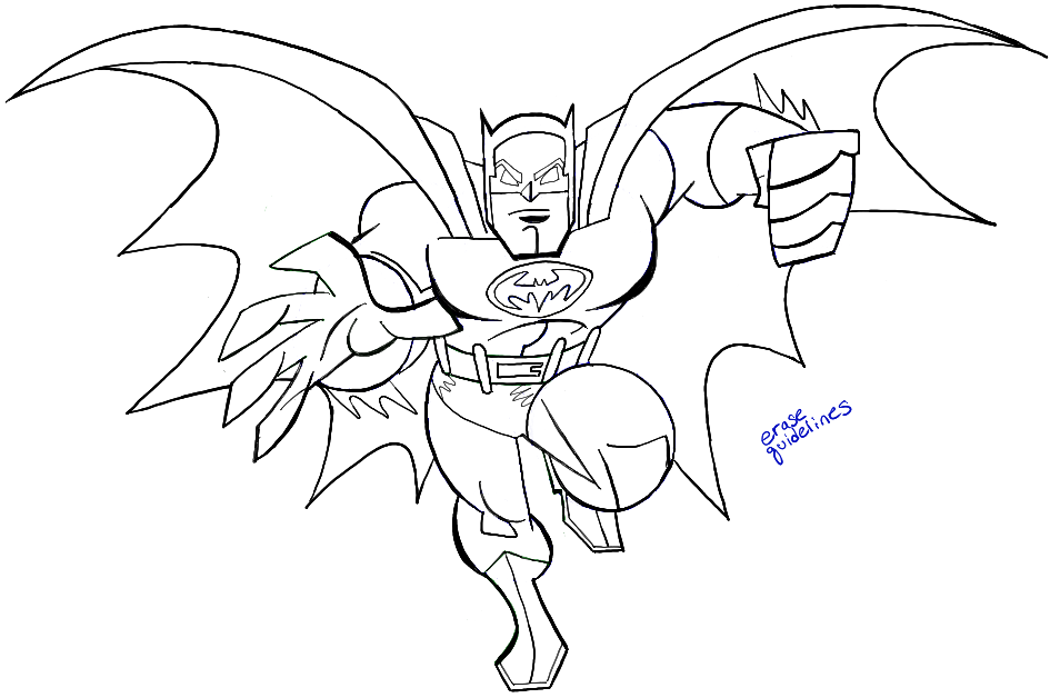 How To Draw Batman From Dc Comics With Easy Step By Step Drawing