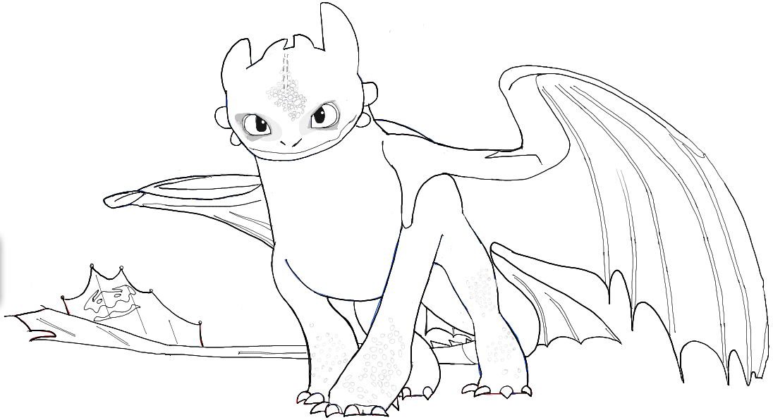 How to draw toothless from how to train your dragon 2 in for How to train your dragon 2 coloring pages
