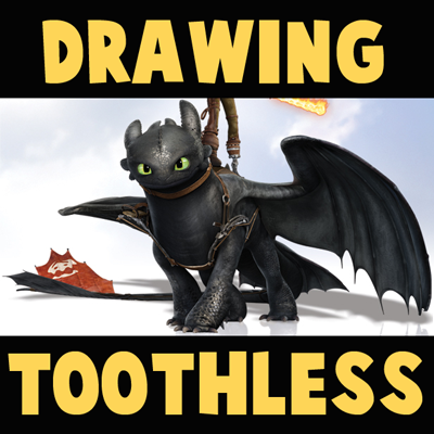 How to Draw Toothless from How to Train Your Dragon 2 in Easy Step by Step Drawing Tutorial