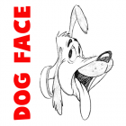 How to Draw a Cartoon Dog's Face or Head in Step by Step Drawing Tutorial