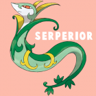 How to Draw Serperior from Pokemon in Simple Step by Step Drawing Tutorial