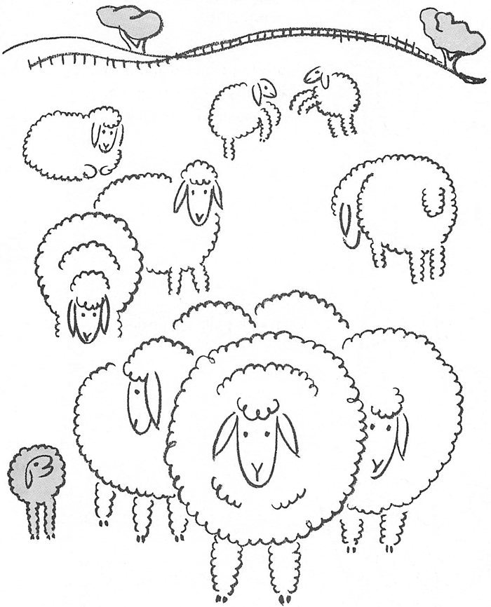 How to draw a sheep - photo#28