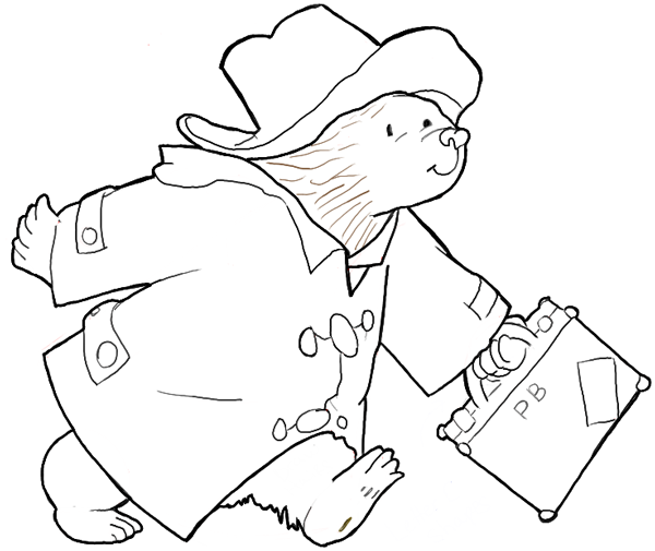 finished drawing of paddington bear illustration