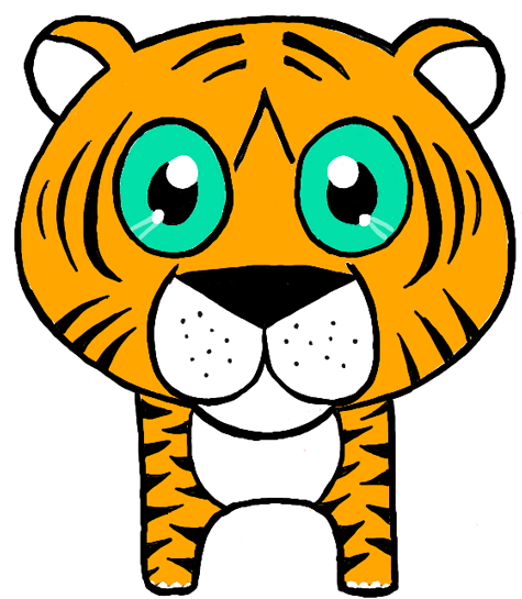 Finished Drawing of a Chibi Tiger or a Baby Tiger