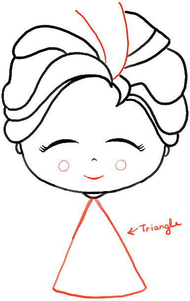 how to draw a chibi baby elsa from frozen with easy steps