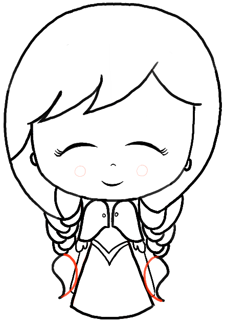 How to Draw a Chibi Baby Anna from Frozen with Easy Steps