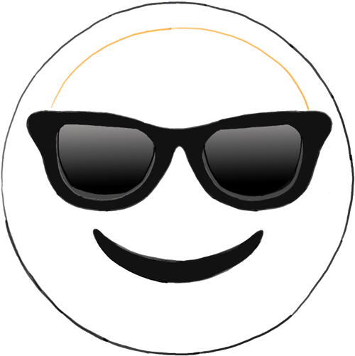 Emoji With Glasses Coloring Page