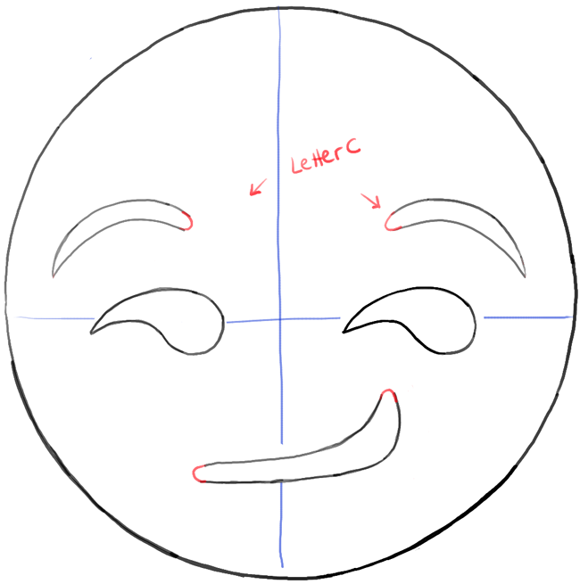 Line Drawing Emoji : How to draw the smirking emoji face with easy steps