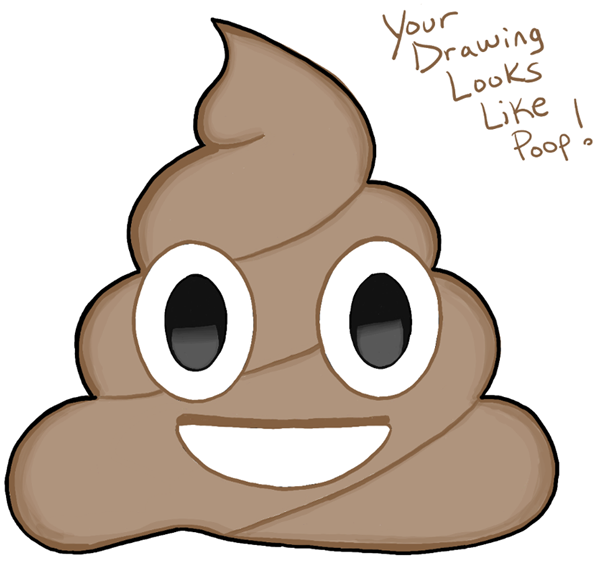 Finished Drawing of Pile of Poo Emoji