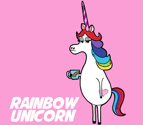 How to Draw Rainbow Unicorn from The Minions Movie Step by Step Drawing Tutorial