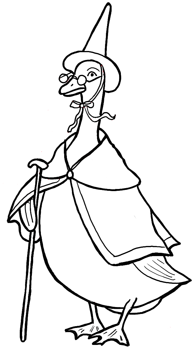 Finished Drawing of Mother Goose