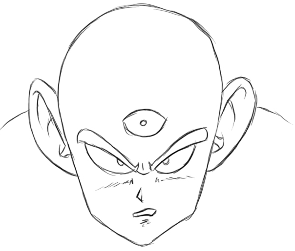 Finished Drawing of Tien from Dragonball Z