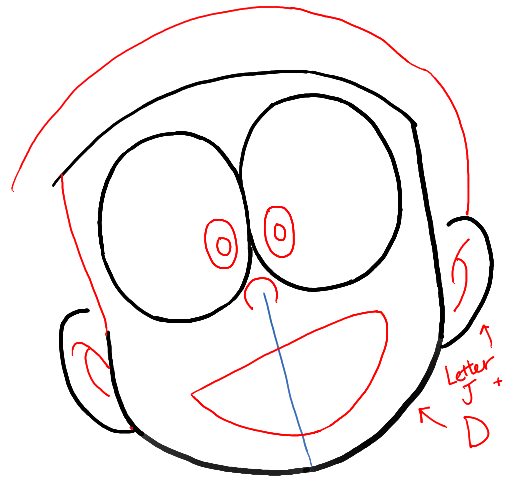 How To Draw Nobita Nobi From Doraemon With Easy Drawing