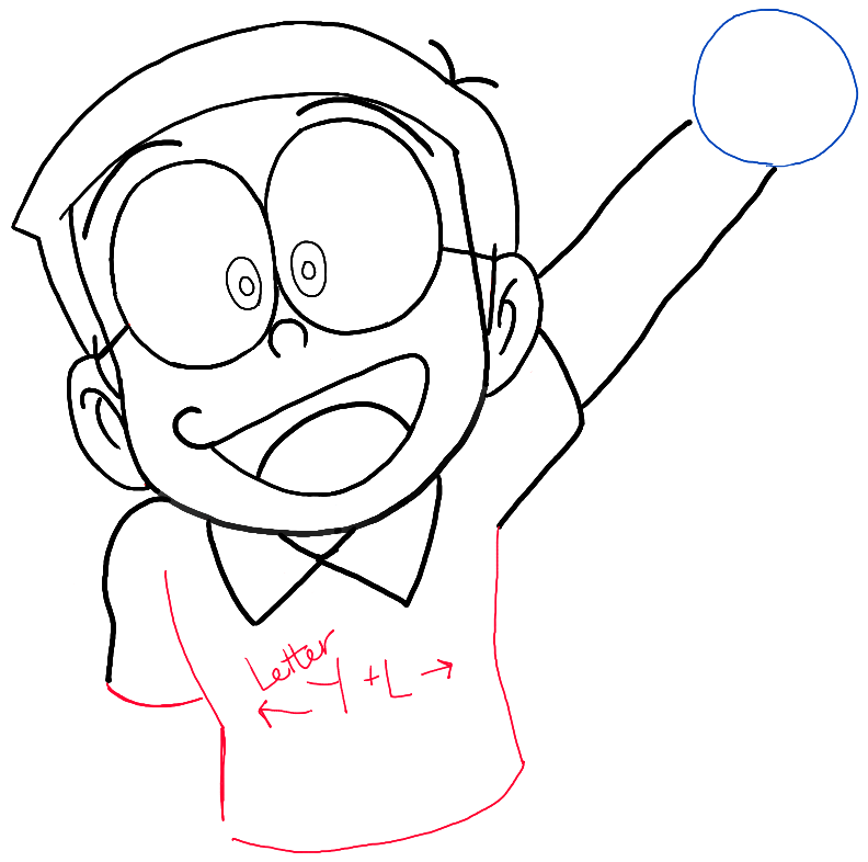 step06-how-to-draw-Nobita-Nobi-from-doraemon